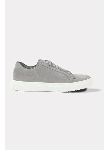 Krähe Varju Gri Süet Minimal Sneaker Gri